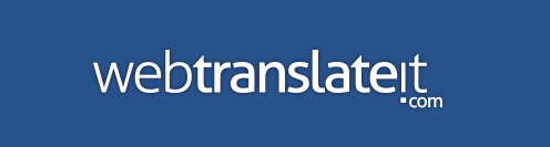 WebTranslateIt logo in white