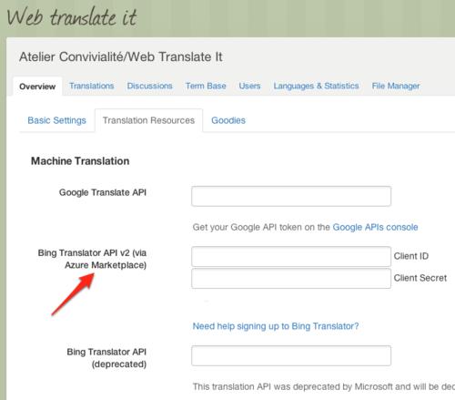 Changes to the Bing Translator API · The WebTranslateIt Blog