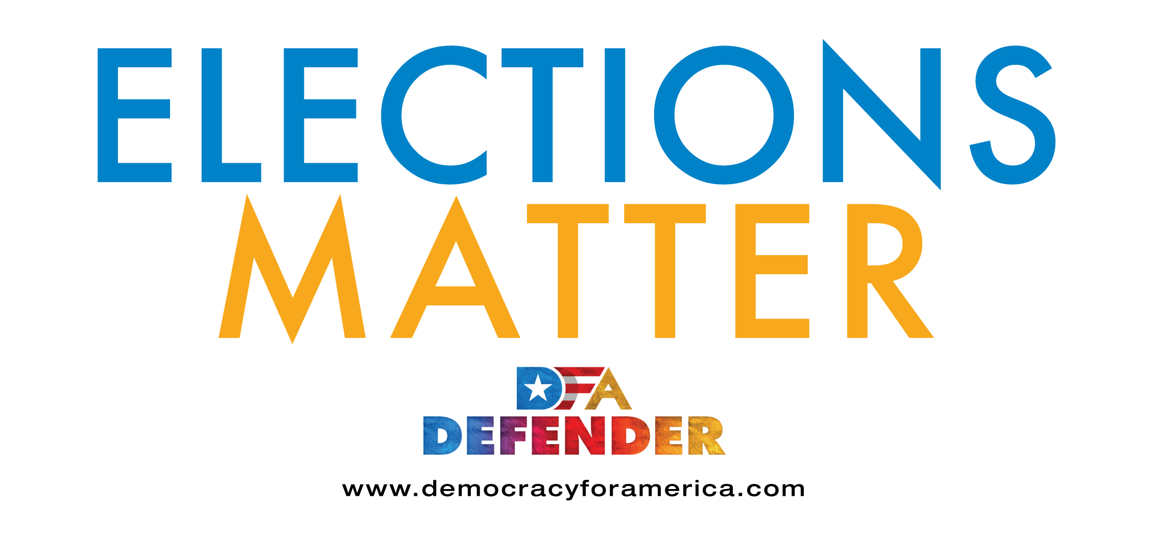 Elections Matter Bumpers Sticker Design