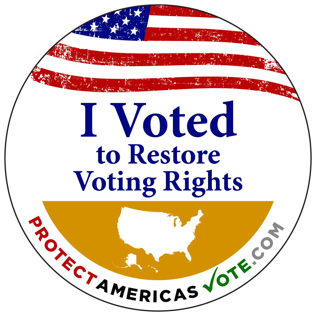 I Voted to Restore Voting Rights