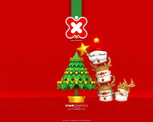 xmas boys 30 Remarkable Christmas Wallpapers, Part II