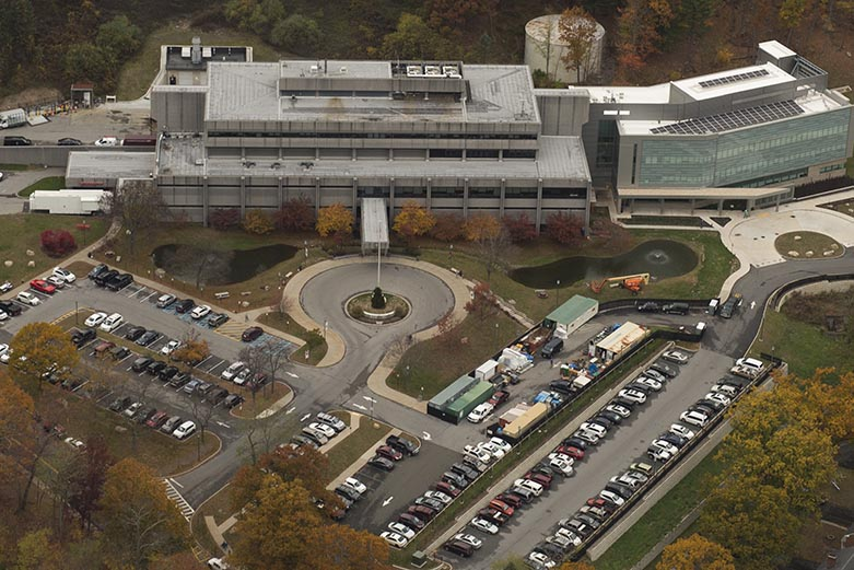 Aerial view of Keller Army Community Hospital at West Point.