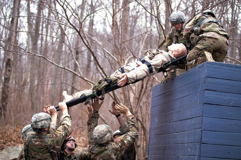 Sandhurst team competing in 2019 competition