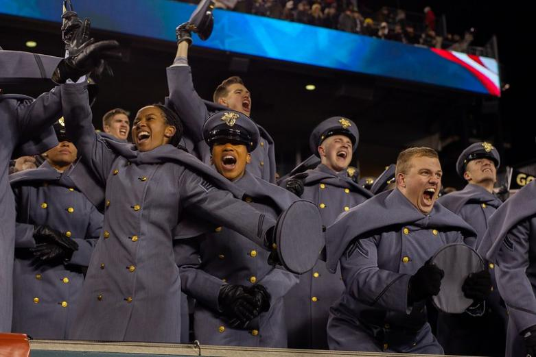 Cadets during 2018 Army-Navy game