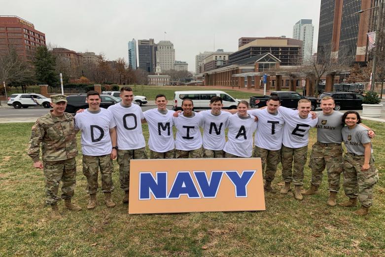 Dominate Navy team photo