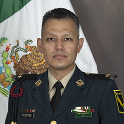LTC Fuentes from the Mexican Army in uniform