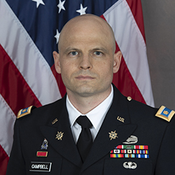 MAJ Christopher Campbell in uniform