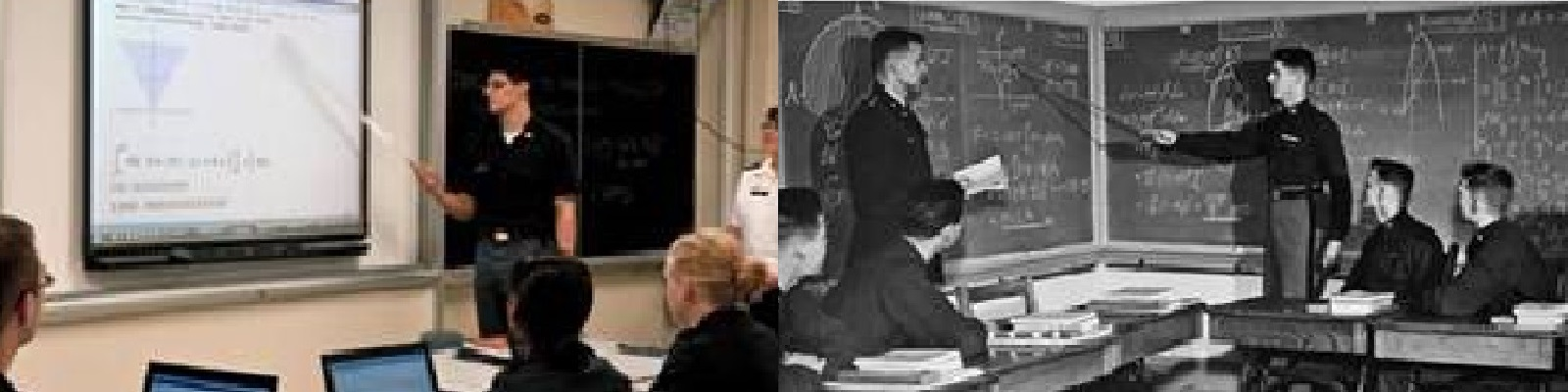Cadets in math classrooms.