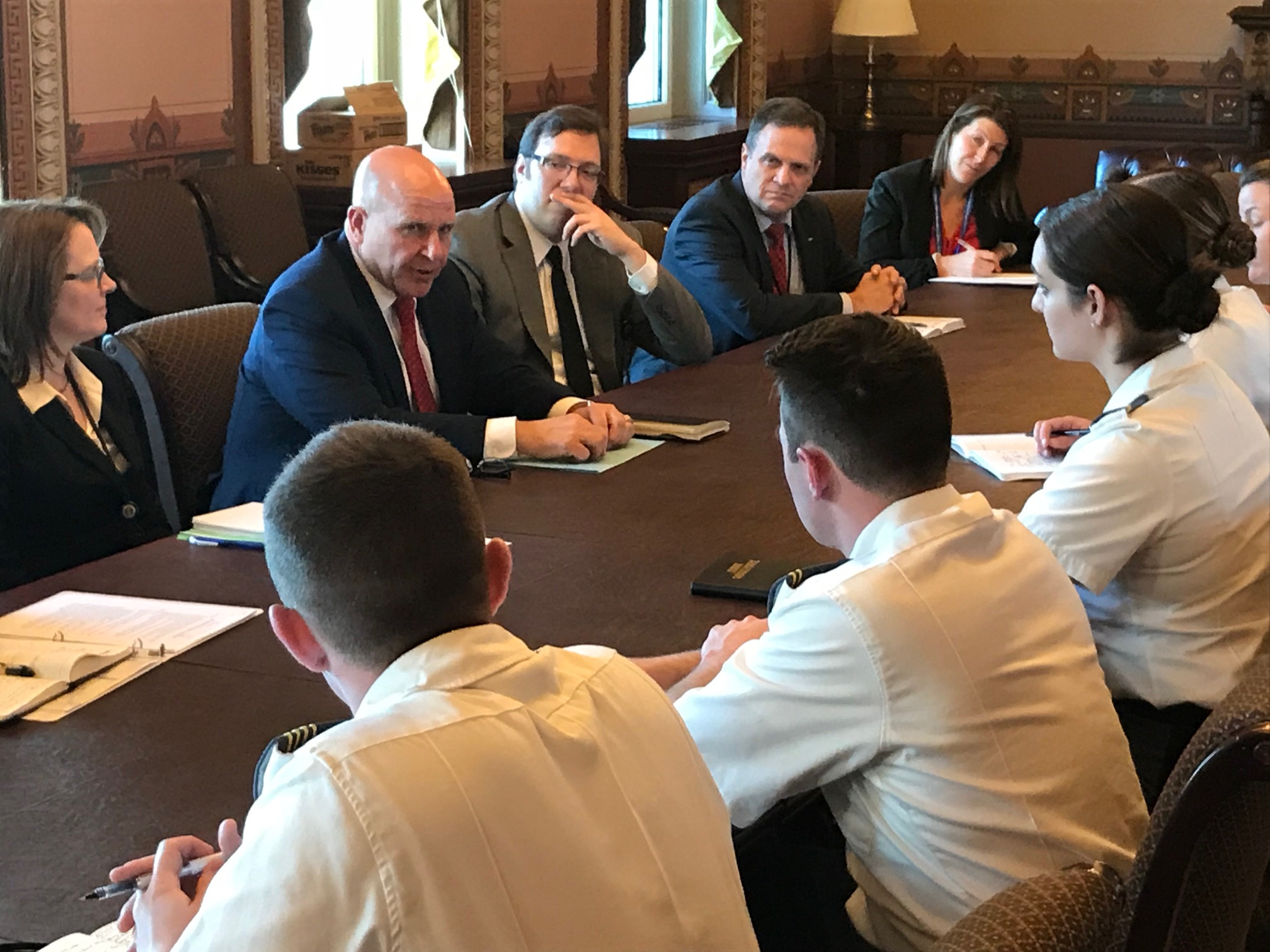 Cadets meet with the National Security Council