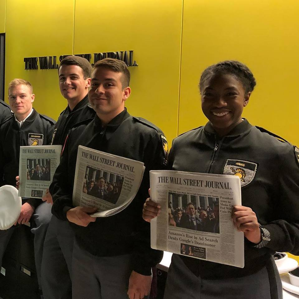 Cadets visit the Wall Street Journal