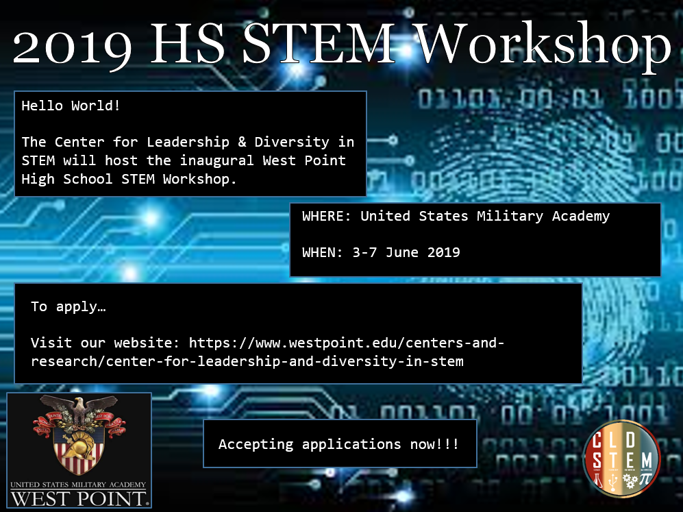 2019 High School STEM Workshop flyer