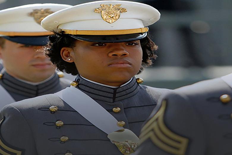 Cadets at graduation