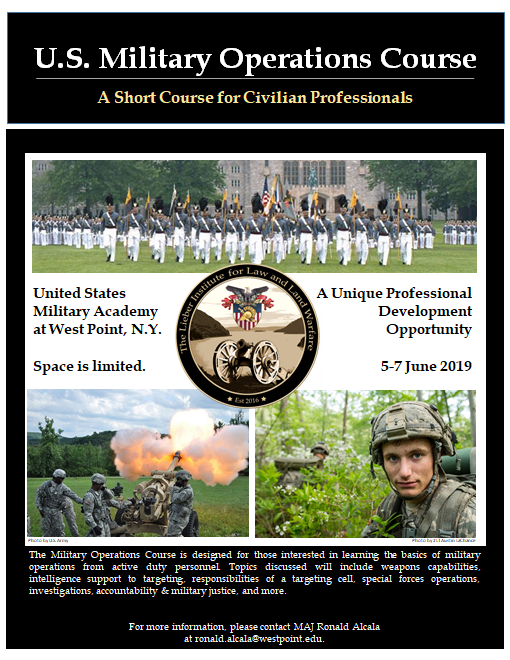 Military Operations Course Poster
