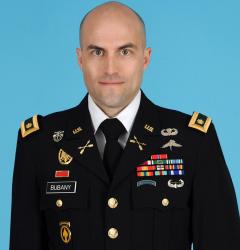 MAJ Bubany official photo in uniform