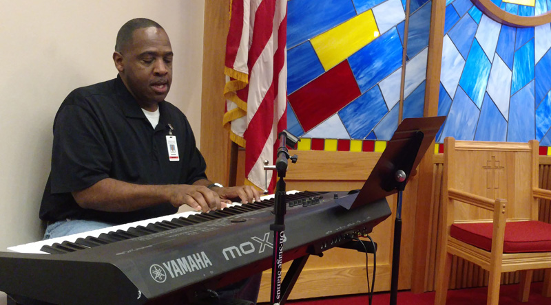 Ed McNair is the musical director at The Salvation Army Northern Virginia ARC. After going through the program, he became a full-time employee and continues to uplift others through music and word.