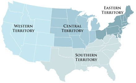 Salvation Army Territories