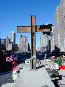 The cross that stood over ground zero.