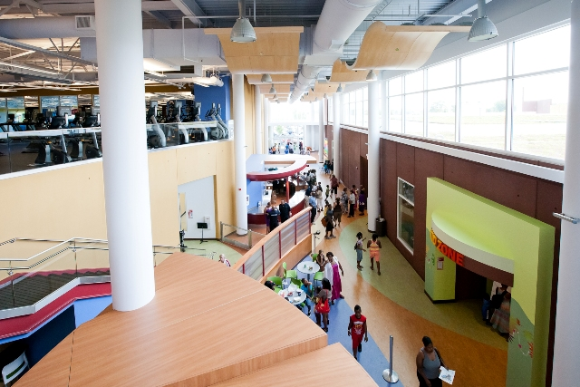Thousands of people explored the many programs and services the Kroc Center offers at a community open house on Saturday, June 16.