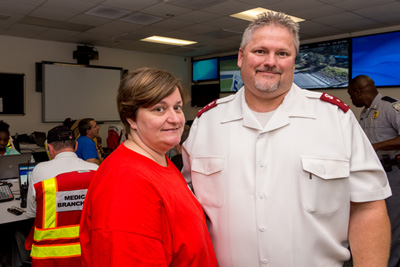 Captains Wanda and Robert Long served three meals per day to first responders at the Orangeburg County Emergency Operations Center.