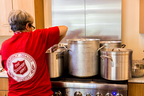 The Beaufort, South Carolina, Canteen team prepared nearly 1,200 meals a day out of the Beaufort Fire Department kitchen.