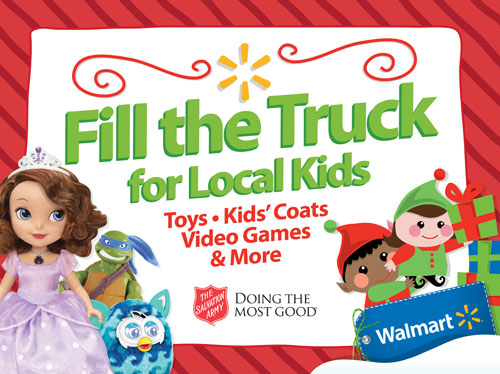 Salvation Army Walmart Fill the Truck