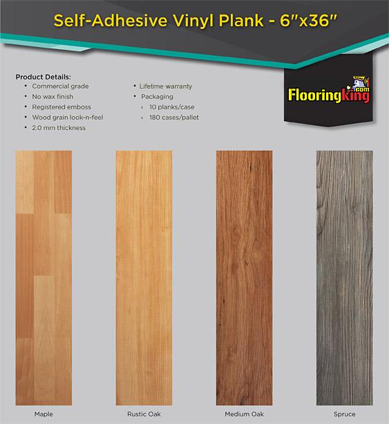 Commercial Waterproof Luxury Vinyl Plank Tile Flooring Flooring King