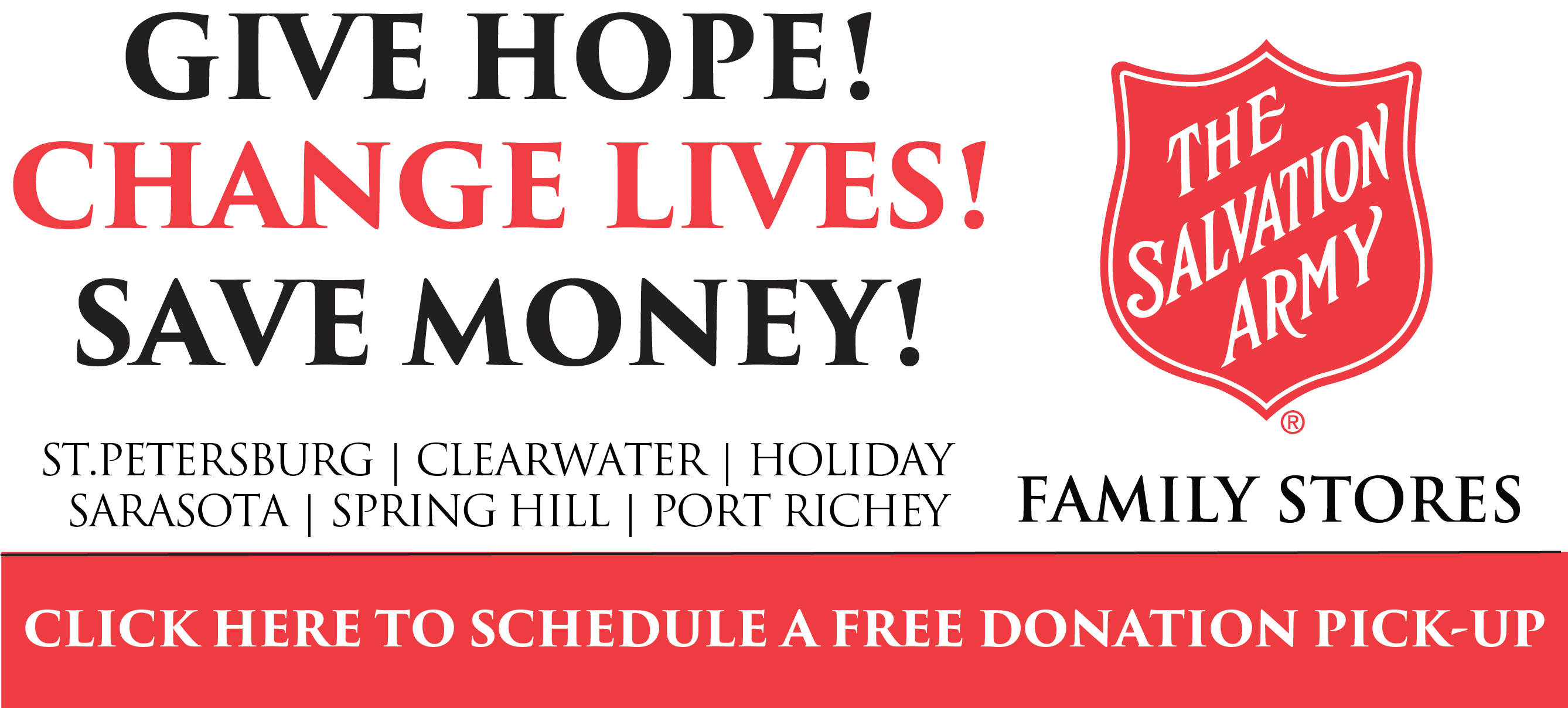Donate Now to the St.Peterseberg Area Salvation Army