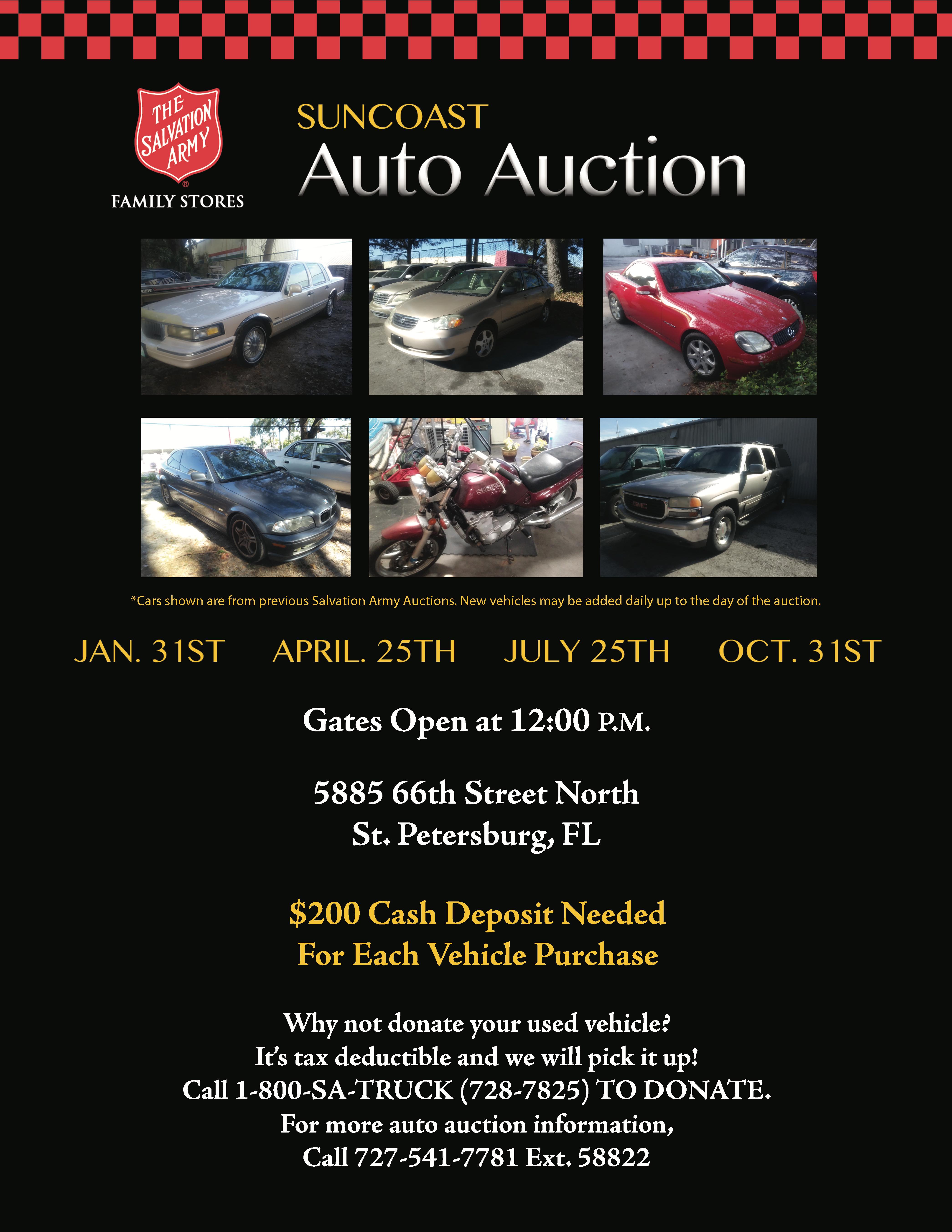 St.Petersburg Salvation Army Auto Auction