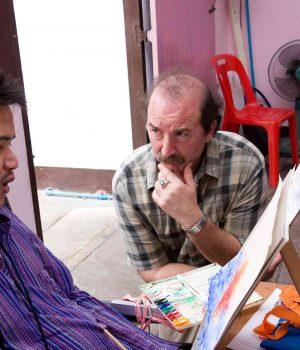 John Domont during a workshop in Thailand