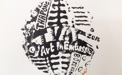 Art in Embassies logo designed by workshop participant.