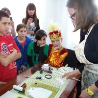Sharon Cosgrove teaching at Kostanay Orphanage