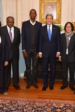 Medal of Art awardees with Secretary Kerry