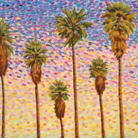Nasreen Haroon, Palisade Palms III, 2006, Oil on canvas, Courtesy of the artist, Los Angeles, California