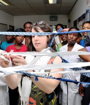 Tori Greising in Gaborone