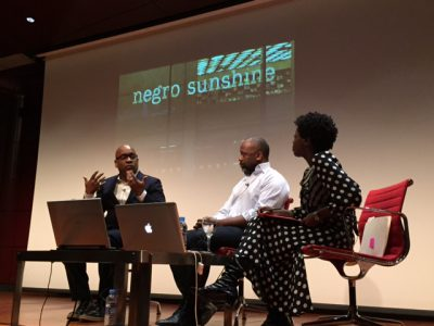 Glenn Ligon, Theaster Gates and Thelma Golden at Reina Sofia