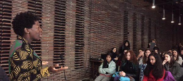 Glenn Ligon, Theaster Gates and Thelma Golden at the Matadero Reina Sofia lecture