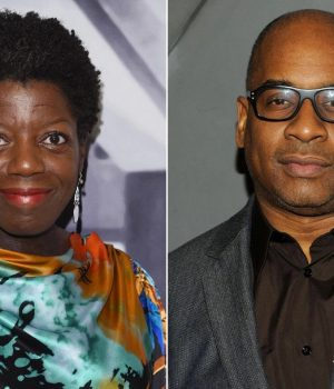 Thelma Golden (left) and Glenn Ligon (right)