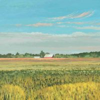 Timothy Klunder, Red Barn #2, Overall: 13 × 14in. (33 × 35.6cm), Courtesy of the artist and Gallery 72, Omaha, Nebraska