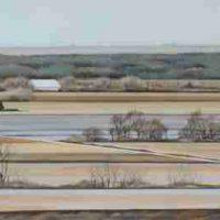 Deborah J. Murphy, Land Patterns, Near Lincoln, Overall: 17 × 72in. (43.2 × 182.9cm), Courtesy of the artist and Kiechel Fine Art, Lincoln, Nebraska