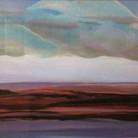 Jeri Brainard, Great Plains at Dusk, Overall: 11 1/2 × 22in. (29.2 × 55.9cm), Courtesy of the artist and Kiechel Fine Art, Lincoln, Nebraska
