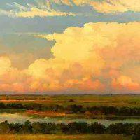 Hal Holoun, Echo, Overall: 35 × 48in. (88.9 × 121.9cm), Courtesy of the artist and Kiechel Fine Art, Lincoln, Nebraska
