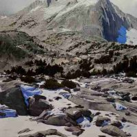 Alan Sonneman, Early Snow on North Peak, Hoover Wilderness, Inyo National Forest, Overall: 48 × 38in. (121.9 × 96.5cm), Courtesy of the artist, Palo Alto, California