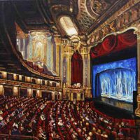 Christopher Buoscio, Oriental Theatre, Chicago, Overall: 18 × 24in. (45.7 × 61cm), Courtesy of the artist, Falls Church, Virginia