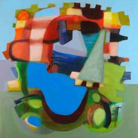 Patricia C. Goslee, Enclave, 2015, Overall: 24 × 24in. (61 × 61cm), Courtesy of the artist