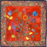 Joan Aaronson, Summer Yo-Yo Flora and Fauna, Joan Aaronson dyed fabrics, Hobbs batting, 29 x 32 in.  (73.7 x 81.3 cm), Courtesy of the artist, Brewster, Massachusetts