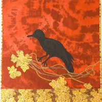 Joan Aaronson, Red Raven for Havana and Peace, 48 x 60 in.  (121.9 x 152.4 cm), Courtesy of the artist, Brewster, Massachusetts