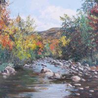 Harry Pattison, River in Early Fall, Overall: 17 1/4 × 23in. (43.8 × 58.4cm), Courtesy of the artist, Bellingham, Washington