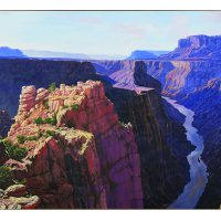 Frederick Denys, Grand Canyon, Toroweap, Oil on canvas, Overall: 48 x 84in. (121.9 x 213.4cm), Courtesy of Bank of America Corporation, Charlotte, North Carolina