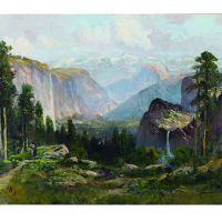 Virgil Williams, Yosemite Valley, Oil on canvas, Overall: 30 x 50in. (76.2 x 127cm), Courtesy of Bank of America Corporation, Charlotte, North Carolina
