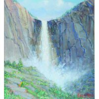 George Bleich, Bridal Veil-Yosemite, Acrylic on canvas, Overall: 24 x 20in. (61 x 50.8cm), Courtesy of Bank of America Corporation, Charlotte, North Carolina